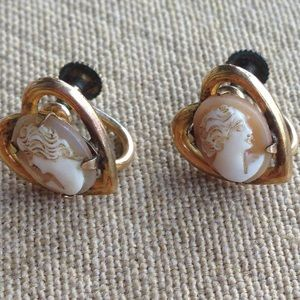 Jewelry - Amco 1/20 12k Gold Filled Cameo Earrings